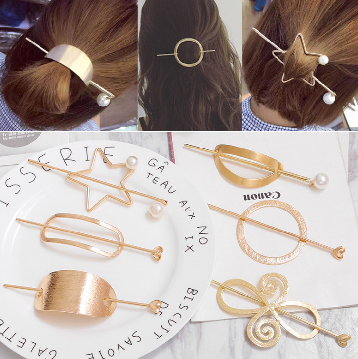 NEW fashion alloy metal hair clip for women stick styling tools girls bun accessories hair pins ornaments hairclip headwear