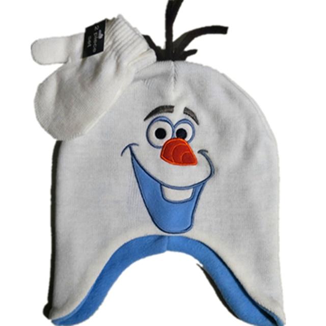 Olaf sombrero Kinitting Gorro invierno guantes dibujos animados ...