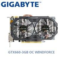 Используется GIGABYTE NVIDIA GPU, графический ппроцессор Nvidia GTX 660 3g OC WINDFORCE видеокарта двойной HDMI DVI порт Поддержка LOL PUBG CSGO