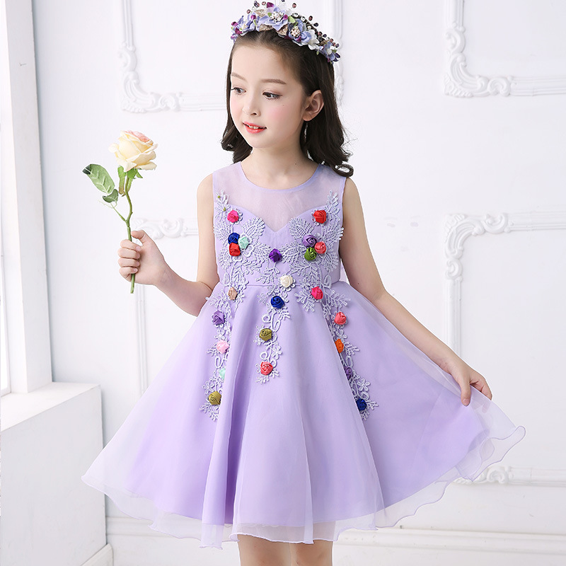 Girls Dress Kids Wedding Bridesmaid Children Girs Bow Dresses Summer 2017 Evening Party Princess Costume Girls Clothes 12 13 14 цена и фото