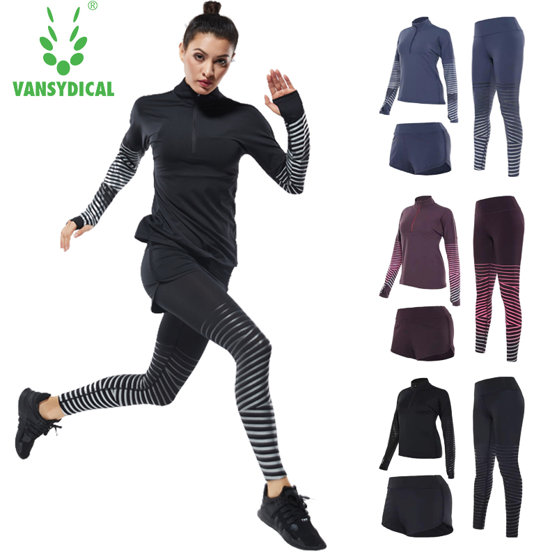 Sports Suits Women's Fitness Yoga Set Running Sets Sport Running Suits Outdoor Gym Fitness Jogging Suits Yoga Clothing 2 pcs/set new stretch yoga running suits fitness sports woman gym clothe suit short sleeved jogging femme 3 set clothing for women