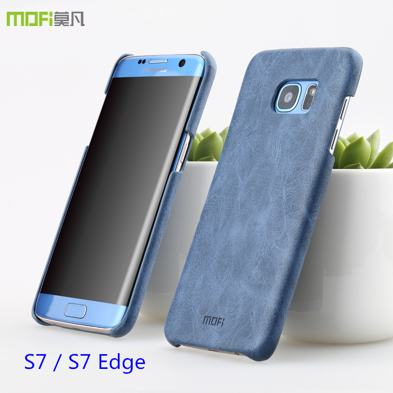 super popular 30762 23566 US $9.99 |For Samsung galaxy s7 edge case galaxy s7 case cover PU leather  MOFi original for samsung s7 edge cover accessories back hard-in Fitted ...