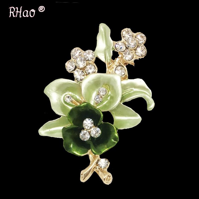 Elegantiškos moterys Drip Crystal Flower sagės smeigtukai - Mados papuošalai - Nuotrauka 2