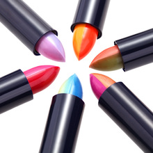 6 Color Changing Rainbow Lipstick Duotone Magic Gradients Cosmetics Rouge Lip Balm Double Color Lipstick