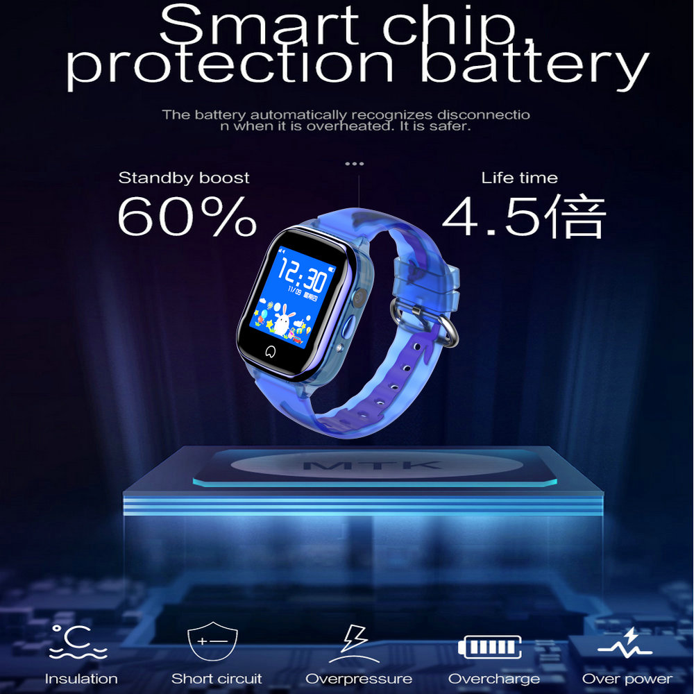 Image 2 - K21 Smart GPS Watch Kids 2019 New IP67 Waterproof SOS Phone Kids 