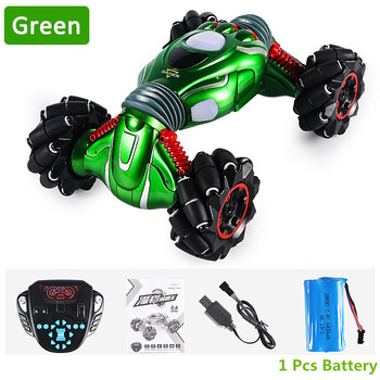 2.4G Drift Twisting king Remote Control Car Four-Wheel Drive Climbing Electric Double-Sided Stunt RC Car With Light Music Dance