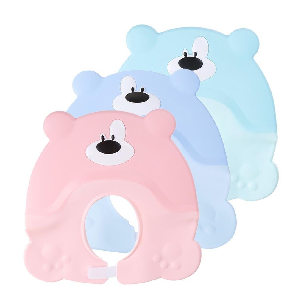 2pcs Children's Shampoo Cap Adjustable Babies' Waterproof Earmuffs Soft Silicone Shampoo Cap Shower Cap