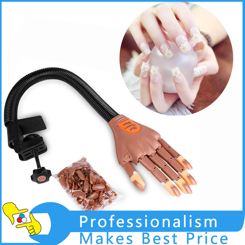 Nail Practice Training Hand Model Flexible Movable False Fake Hands for Nail Art Training Display Model Manicure Tool plastic flexible mannequin model fake hand for nail art practice display tool salon nails training tattoo practice hand skin