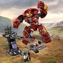 Marvel's The Avengers Infinity War super hero Hulk Buster legos compatible 76104 Model Building Blocks Bricks toy kids gift
