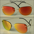 New Style Polarized Sunglasses Men Women Titanium Frames Shades Eyewear