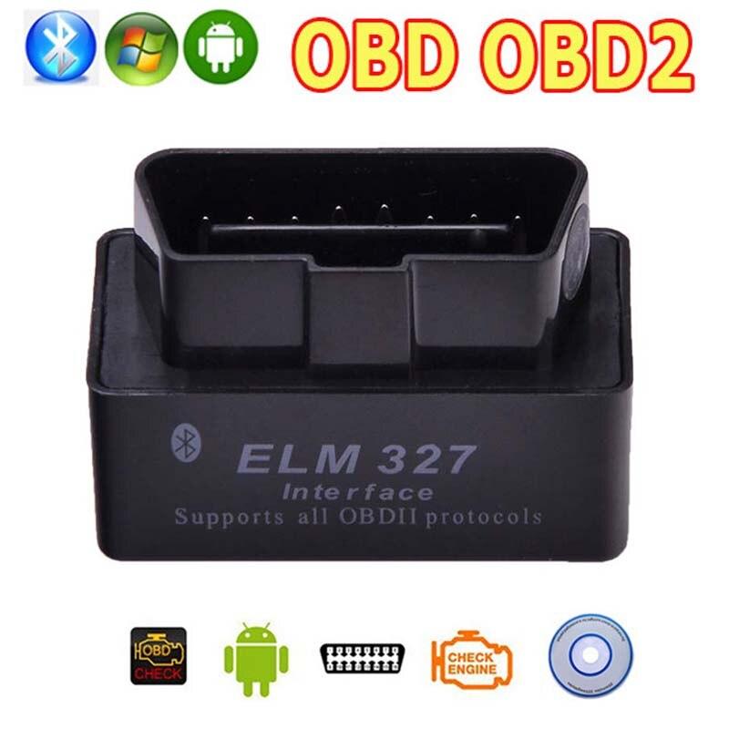 OBD2 OBD ii Wireless V2.1 Super MINI OLMO 327 Bluetooth OBD OBD 2 ELM327 Interfaccia BT per Android Torque/PC Diagnostic strumento
