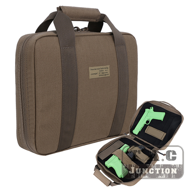Emerson Tactical Two Handgun Soft Hand Carrying Bag Holster Emersongear Pistol Safe Case Protection Magazine