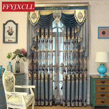 Home Hotel Villa Europe Luxury Valance Curtains For living Room Bedroom Window Embroidered Tulle Curtains Drapes Decoration beige polyester flannel europe embroidered blackout curtains for living room bedroom window tulle curtains home hotel villa