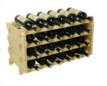 Wooden wine frame Wine high-grade wood overlay display ornaments creative wine wine