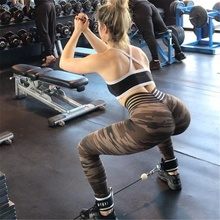 Women's High Waist Yoga Pants Elastic Camouflage Print Women Sport Leggings Quick Drying Skinny Gym Tights For Fitness Trousers active women s high waist skull print skinny yoga pants