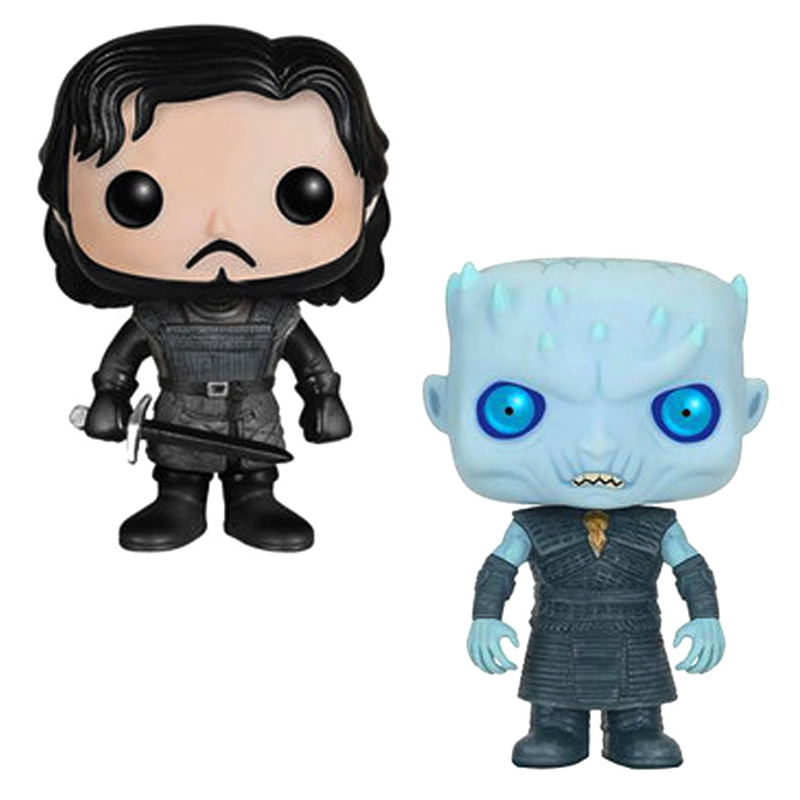 New Hot Game Of Thrones Toys JON SNOW NIGHT KING  Daerenys Tyrion Ghost Action Figure Bobble Head Q Edition Cute Car Decoration game of thrones jon snow wigs black curly synthetic hair