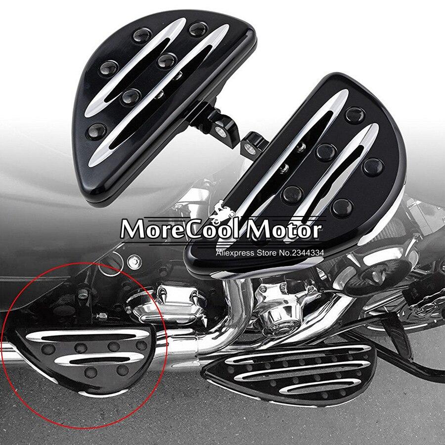 Deep Cut Passenger Footrest Floorboards Kit For Harley Touring Road King Tour Street Electra Glide