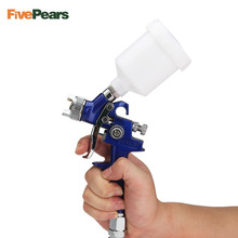 цена на FivePears 0.8MM/1.0MM Nozzle H-2000 Professional HVLP Spray Gun Mini Air Paint Spray Guns Airbrush For Painting Car Aerograph