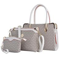 Coofit Design Composite Bag Embossed PVC Bag Sets Women Handbag Crossbody Bag With Clutch Purse Female Shoulder Bags Sac