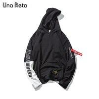 Una Reta Brand Mens Hip Hop Stitching Hoodies Sweatshirts Tracksuit Men Fashion 2018 New Street Wear