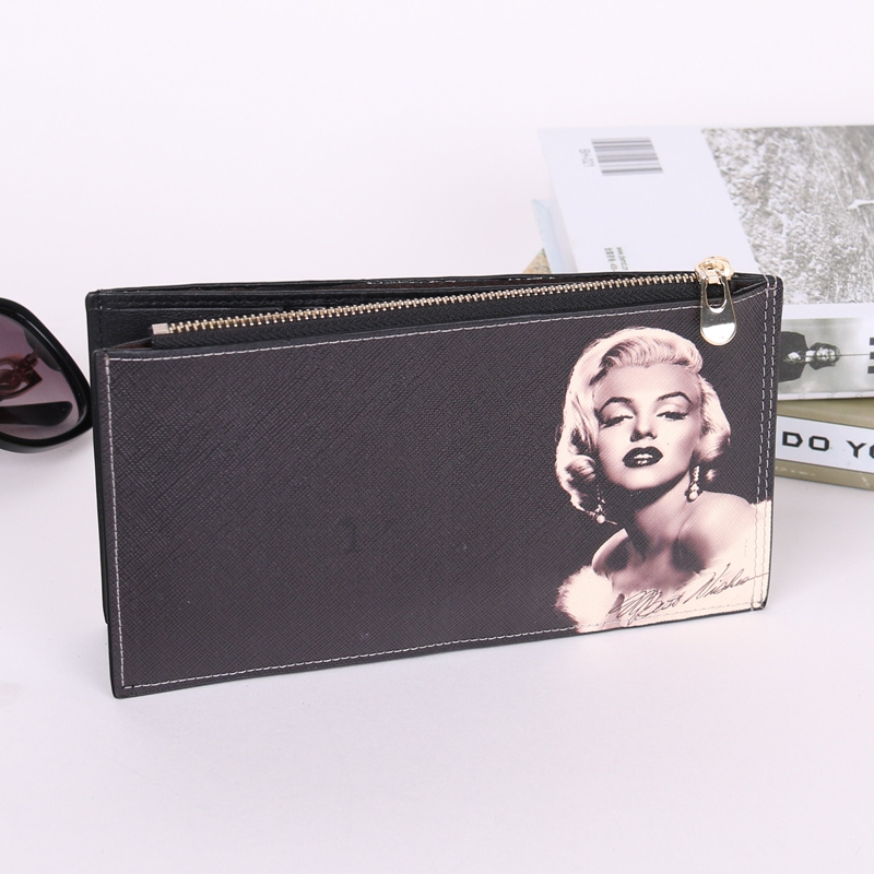 Sun 8 brand Bag arrival women famous designer brand clutch vintage classic marilyn monroe pattern hepburn cowhide wallet purse high quality iron wire frame sun glasses women retro vintage 51mm round sn2180 men women brand designer lunettes oculos de sol