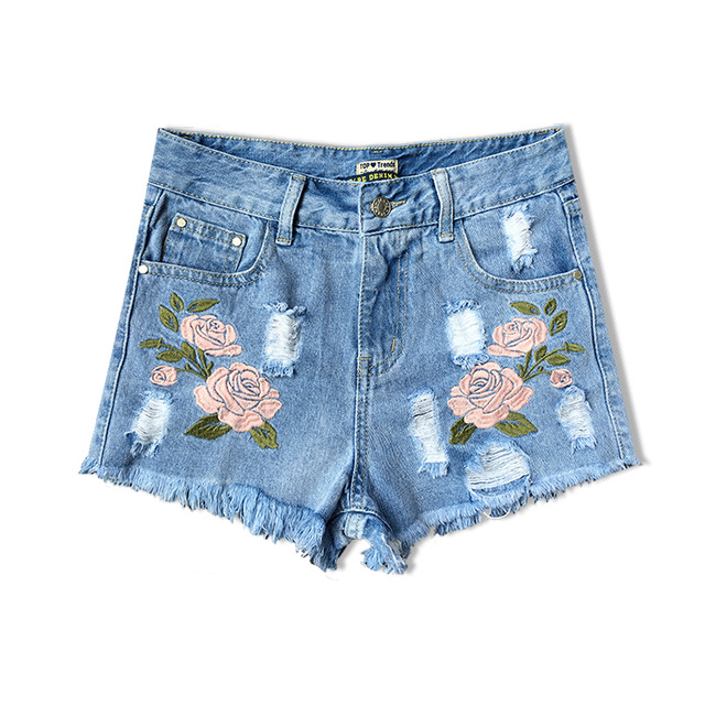 2016 Fashion High Waist Shorts Jeans Women Europe Style