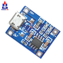 5Pcs/Lot TP4056 Micro USB 5V 1A 18650 Lithium Battery Charger Board With Led Indicator Over Charge Discharge Protection 4.5~5.5V