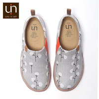 UIN Women Shoes Casual Canvas Loafers Nude Cotton Design Painted Slip on Breathable Travel Flats Ladies Outdoor Sneakers