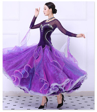 Standard Ballroom Dance Dresses High Quality Stage Purple Flamenco Tango Waltz Dancing Costume Women Ballroom Competition Dress