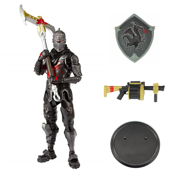 19cm New Hot Game Fortress Night Battle Royale Black Knight Action Figure Toys Game Character PVC Figure Model Toy