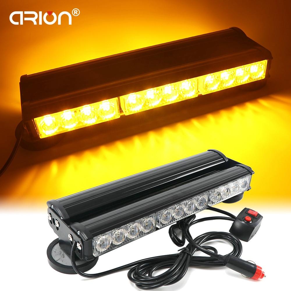 Super Bright 24 LED 72W Amber Strobe Flashing Light 1 PC 1W Long Bar Lights Emergency
