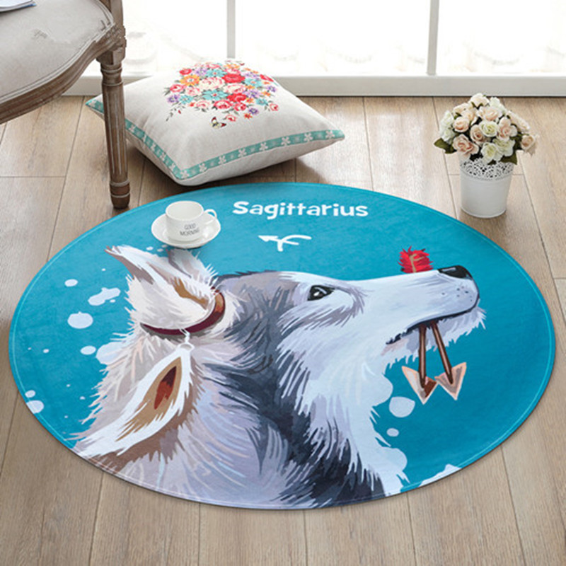 Cartoon Round Rug Kids Room computer chair Mat For Living room Big Area Rugs Bedroom Carpet For Bathroom Home Decorate Carpets