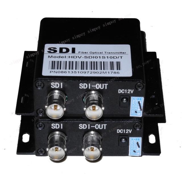 HD-SDI transceiver óptico para apoiar anel sinal de alta-definição para fibra óptica de saída SDI transceiver óptico 2 estrada