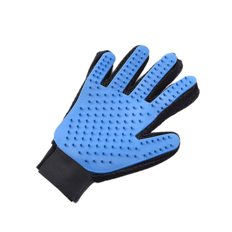 2017 New 1pcs Blue Silicone Five Fingers Gloves <font><b>Pet</b></font> Hair Removal Gloves <font><b>Deshedding</b></font> <font><b>Tool</b></font> <font><b>Pet</b></font> Care <font><b>Tool</b></font> for <font><b>Pet</b></font> Dog Cat