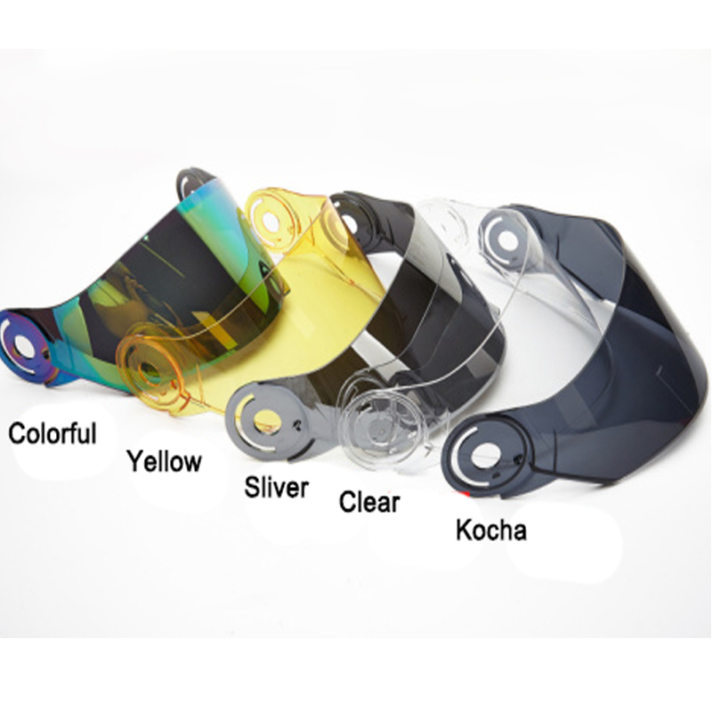 NEW STYLE COLOR RACING Flip Up Motorcycle HELMETS VISOR -COLORFUL SLIVER YELLOW CLEAR SL ...