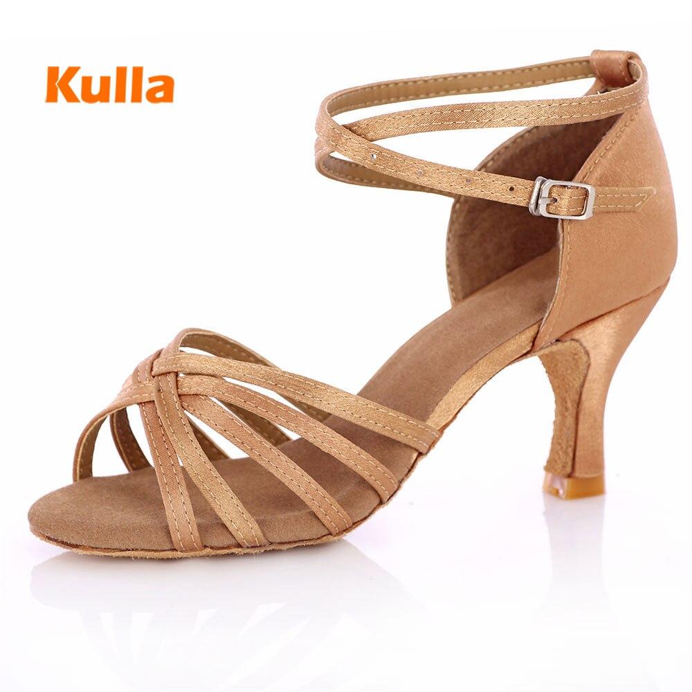 Zapatos de baile latino para mujer, zapatillas de baile para mujer, zapatos de baile de salón de baile, Salsa, 4 colores, alrededor de 5 cm/7 cm