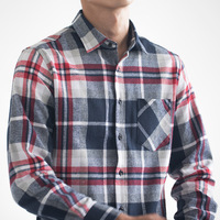 Brand Men Plaid Flannel Shirt 100 Cotton Casual Long Sleeve Shirt Soft Comfortable Regular Fit Styles