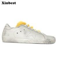 Xinbest Для женщин бренд Туфли без каблуков из натуральной кожи прогулочная обувь для отдыха модная обувь на плоской подошве удобно очень легк