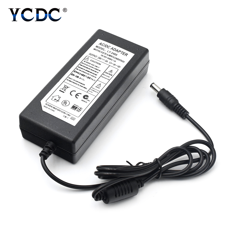 AC DC Power Supply 24V 2A 3A 4A 5A Adapter Charger Transformer For LED Strip Light CCTV Camera VCD palyer Without Input Line 19v 9 5a 19 5v 9 2a ac adapter tpc ba50 power charger for hp 200 5000 200 5100 200 5200 aio envy 23 1000 23 c000 23 c100 23 c200