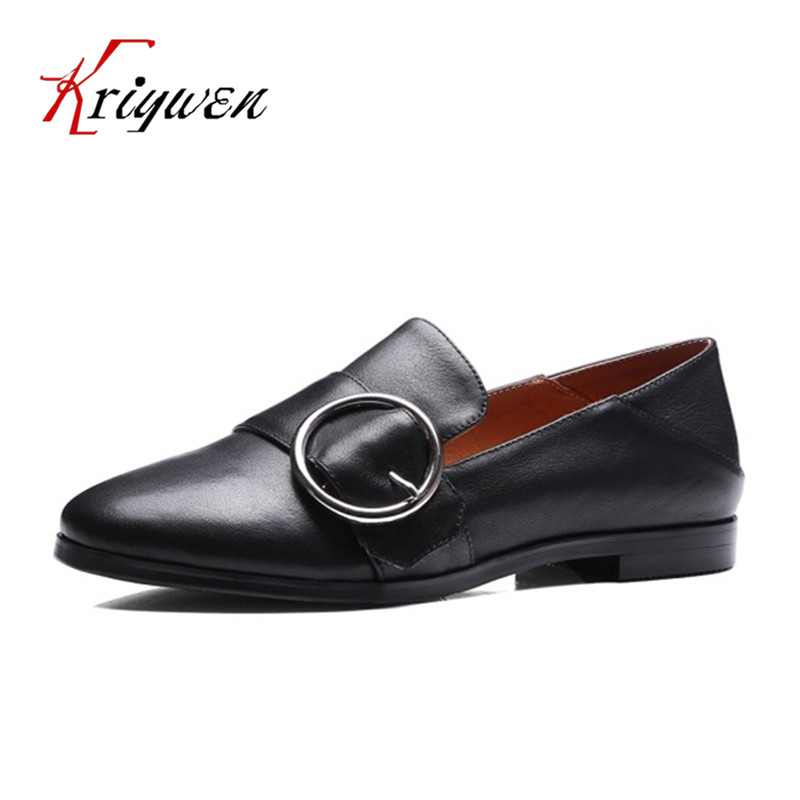 ФОТО 2017 Spring autumn new arrival loafers slip on shoes for beach flats concise genuine leather woman metal decoration women flats