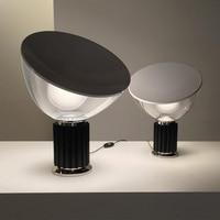 Italy Designer Radar Table Lamps for Bedroom Bedside Lamp Modern Study Room Hotel Aluminum Glass Shade Bed Lamp deco maison