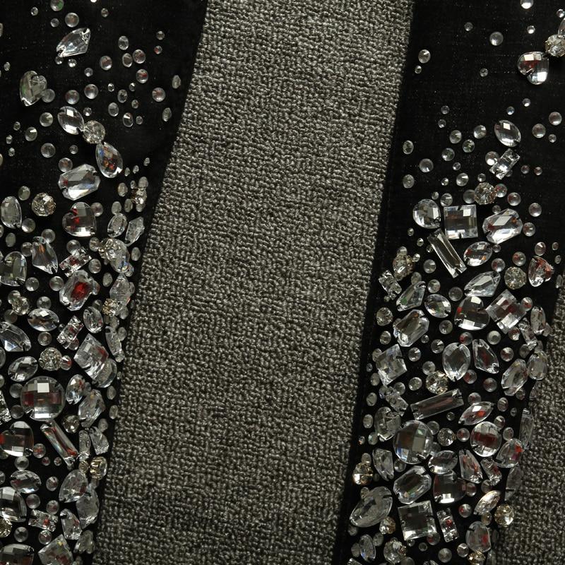Denim Crayon Diamant Élastique Perlé De Stretch Noir Jeans Haute Strass Taille 40 Sexy Main bleu Noir Pantalon Skinny Luxe wZqIz6gp