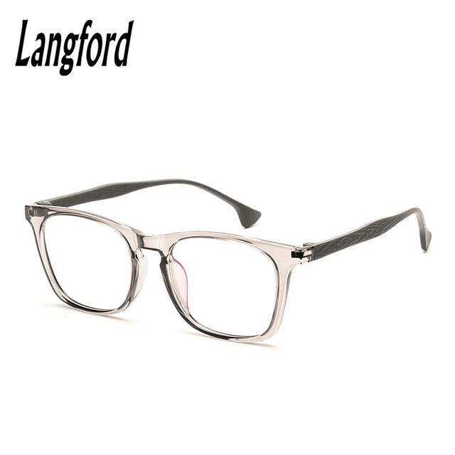 Transparente marco de los vidrios tr90 Ultra-ligero de fotograma completo gafas de miopía marco masculinas Mujeres vidrios Ópticos gafas