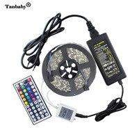 Taśmy Led RGB 5050 Wodoodporna elastyczna Lina Tanbaby + 44key kontroler LED RGB + 12 V 5A 60 W Mocy adapter oudtoor oświetlenie
