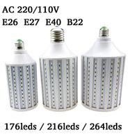 Super Bright Lampada LED Lamp E26 E27 E40 B22 5730 5630 SMD LED Corn Bulb AC