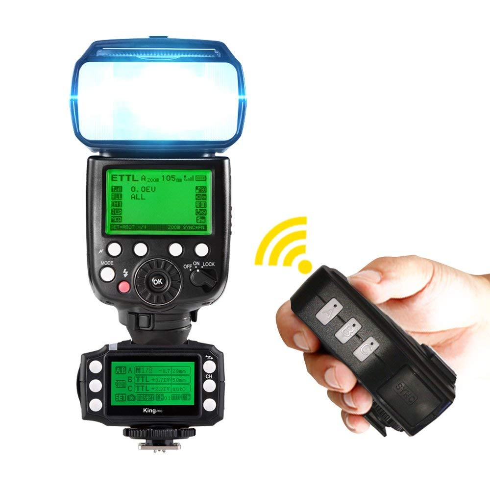 PIXEL King Pro Off-camera bezdrátový blesk Trigger Set Transceiver - Videokamery a fotoaparáty - Fotografie 5