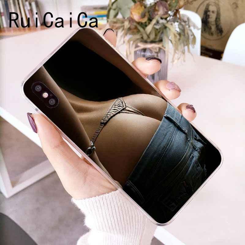 RuiCaiCa مثير بيكيني كبيرة الحمار لينة قذيفة الهاتف غطاء ل فون 8 7 6 6 S زائد X XS ماكس 5 5 S SE XR 10 غطاء