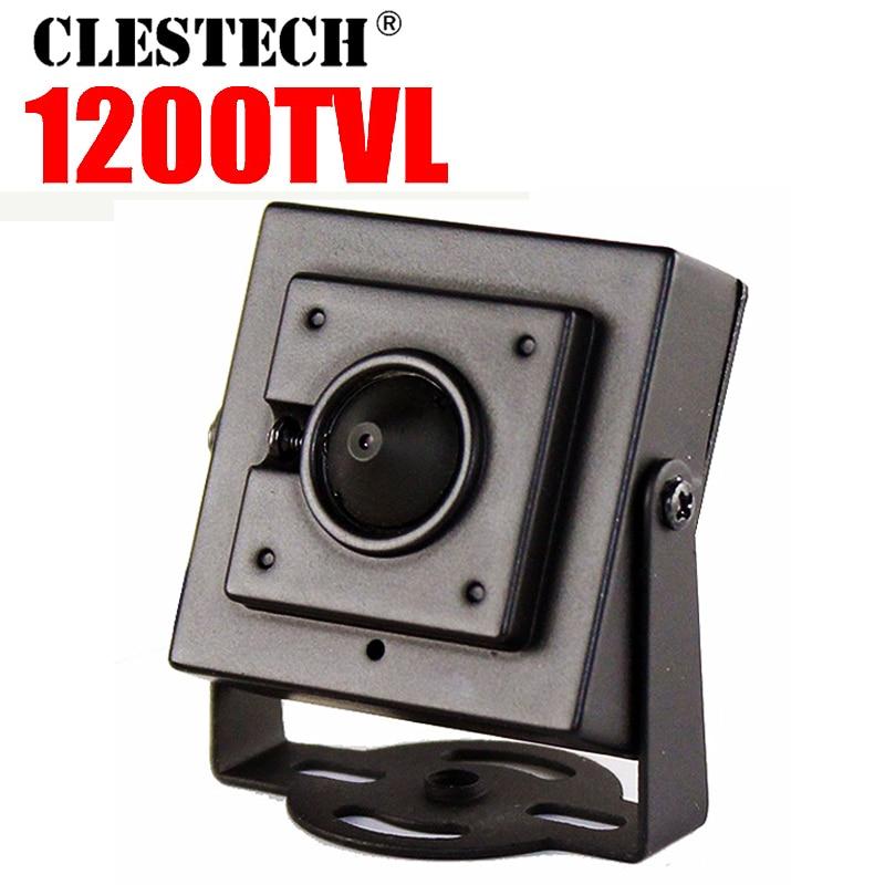 """Super Mini 1/3 """"Cmos 1200TVL HD caméra métal 3.7mm cône lentille super petite maison couleur vidéo surveillance produits Cam ont support"""