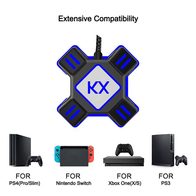 US $14 73 16% OFF|KX Keyboard Mouse Converter For PS3 PS4 Xbox One Switch  APEX Support All Major Mainstream Handles Keyboard Mouse-in USB Receiver