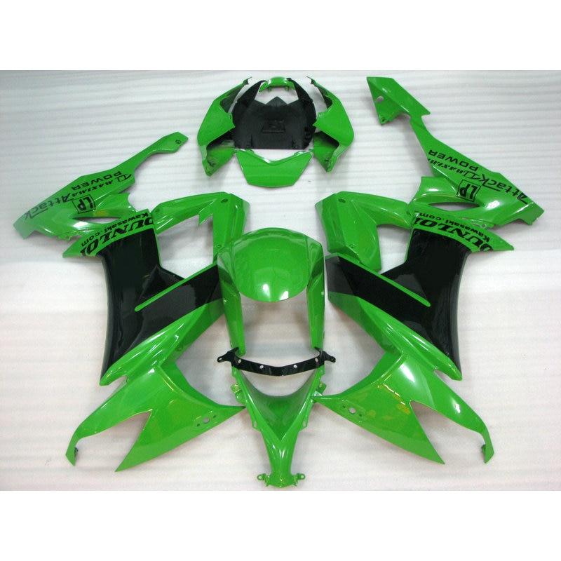 High quality ABS plastic fairing kit for Kawasaki ZX10R 2008 2009 2010 green black body repair roadFairings Ninja ZX 10R 08 09
